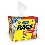SCOTT Rags In A Box Scott Shop Rags - 350ct in a Box (x 4 Boxes))