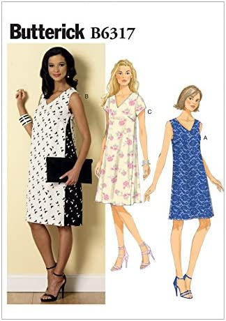 Butterick Sewing Pattern 6317 Misses/' Pullover V-Neck Dresses