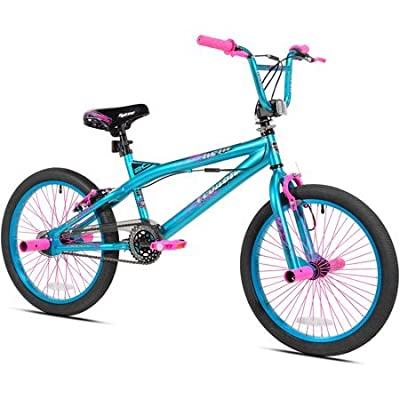 "Kent.. 20"" Trouble Girls\' Bike, Aqua/Pink : Sports & Outdoors [5Bkhe1100634]"