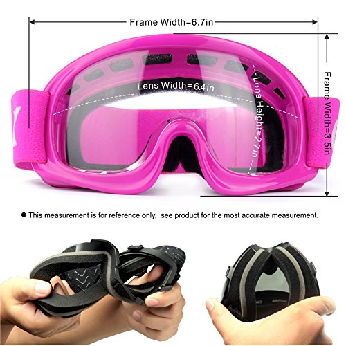 GLX Motocross Dirt Pink+Goggles+Gloves