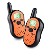 I.lux Walkie Talkies Easy To Use and Kids Friendly 3 Mile Rang 2 Pack(Orange)
