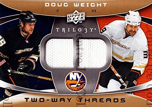 key Card 2008-09 UD Trilogy Two-Way Threads 2WDW Doug Weight (Islander Way)