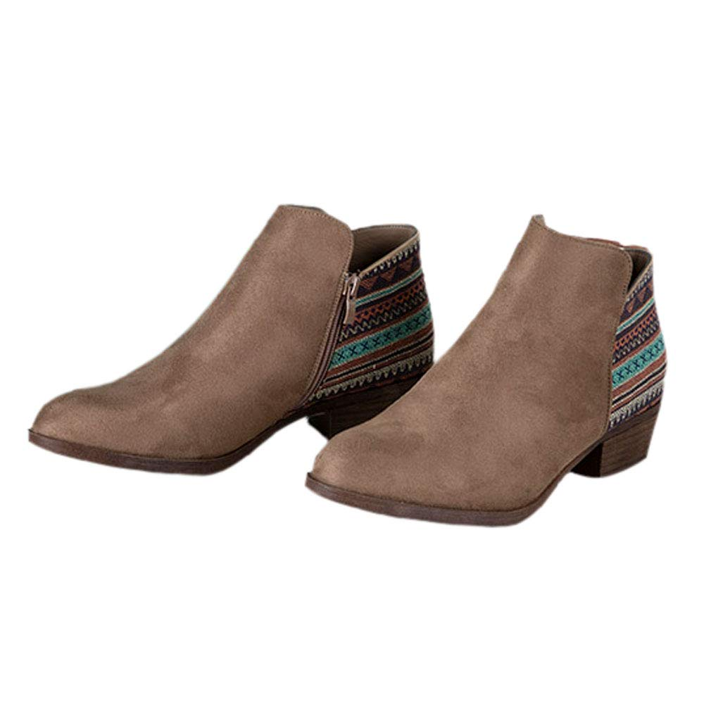 - Corkys Emilee Taupe Booties 7
