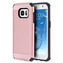 Samsung Galaxy Note 5 - Ispace [Shock Absorption] [Impact Resistant] (Alpha Series) Hybrid Dual Layer Protector Case Cover for Samsung Galaxy Note 5 (Rose Gold)