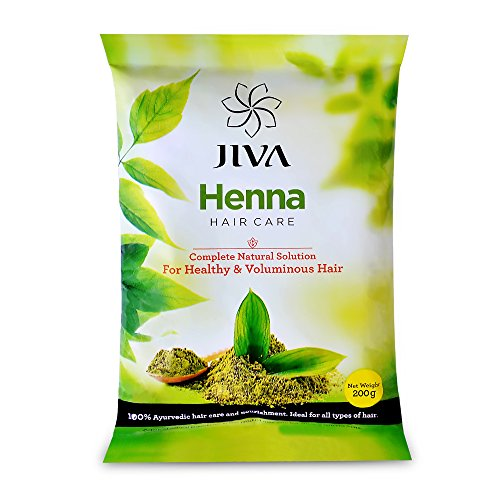Jiva Ayurveda Henna Hair Care for Long, Healthy and Strong Hair | Hair fall Control | Repairs damaged hair Pack of 2