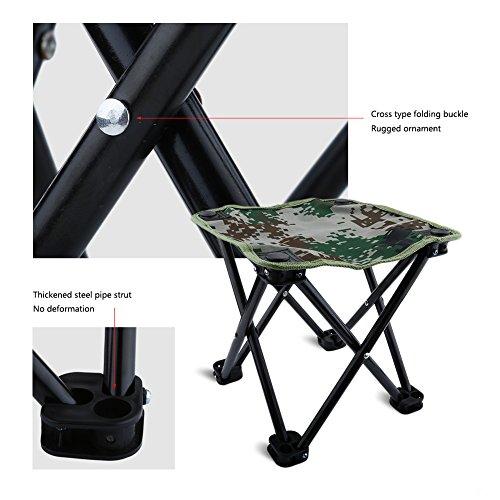 Mini Chaise Pliante Sige Tabouret Pliable Lger Portable Avec Sac De Rangement Pour Camping Pche Escalade