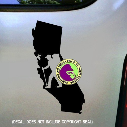 CALIFORNIA Hiker Vinyl Decal Sticker B
