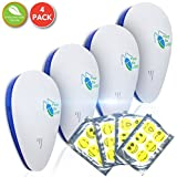 [NEW 2018] Ultrasonic Electromagnetic Pest Control Repeller Plugin (Set of 4) Ideal Electronic Pest Control to Repel Mouse Spiders Cock Roaches Mosquitos Ants  Non-Toxic, Pet Safe By Pest-Be-Off!