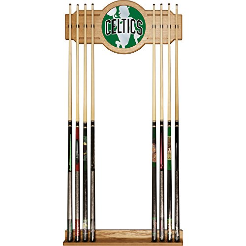 Trademark Gameroom NBA6000-BC2 NBA Cue Rack with Mirror - Fade - Boston Celtics by Trademark Global