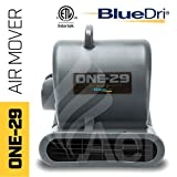BlueDri One-29 1/3 HP 2.9 AMPS Portable Fully Stackable GFCI 4 Unit Daisy Chain Capability Air Mover Carpet Dryer with 25 Feet Cord Grey