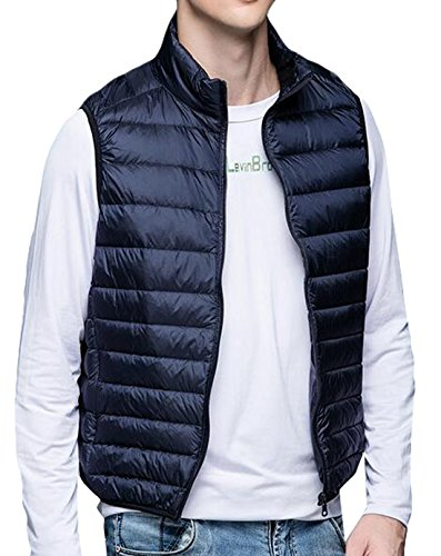 Blue Warm Vest Men's Packable EKU Jacket Puffer US S Down Winter Navy Fashion tUqw7O