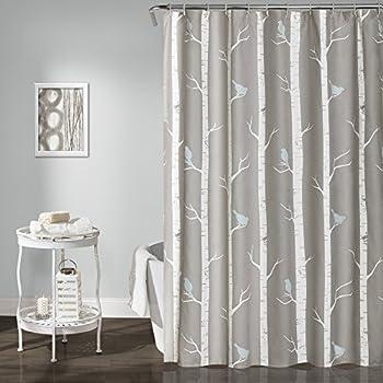 Lush Decor Bird On The Tree Shower Curtain 72 X Gray Blue