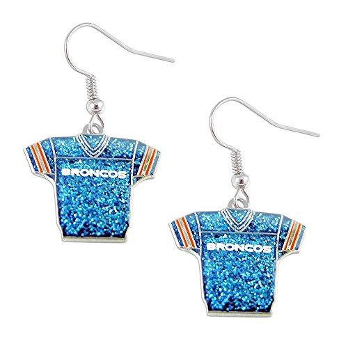 NFL Denver Broncos Glitter Jersey Earrings