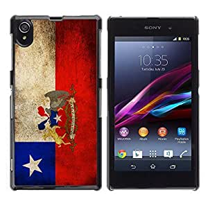 Graphic4You Vintage Chilean Flag of Chile Design Hard Case Cover for Sony Xperia Z1