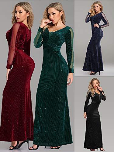 new concept c70d9 8e25c Mujer Purpurina De Vestido pretty Larga Fiesta Marino Para 07439 Brillante  Ever Elegante Sirena V cuello ...