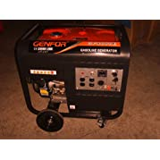 Genfor GF8000CE-W 7,000-watt Gasoline Powered Portable Generator with Electric Starter, 10  wheels & handles