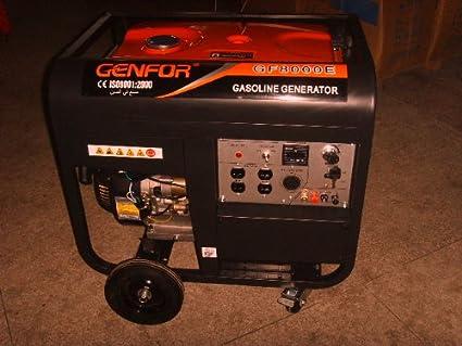 Amazon.com: genfor gf8000ce-w 7,000-watt Gasolina Generador ...