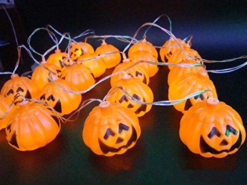 Franchen Halloween LED String Light flicker hanging Pumpkin Lantern Decoration String Lights for Holiday Festival Garten Party decor (Pumpkin 16 LED)