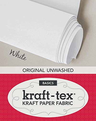 "(kraft-tex White Original Unwashed: Kraft Fabric Paper, 19"" x 1.5 Yard Roll (kraft-tex Basics))"