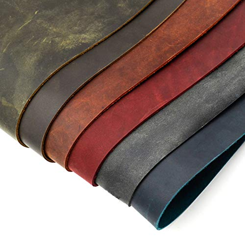 Gano Zen Sy Tools Crazy RSE Skin Leather 2.0mm - Vegetable Tanned Leather Wax Leather Leather Retro Style - 5 Size - 6 Color Available by Gano Zen (Image #1)