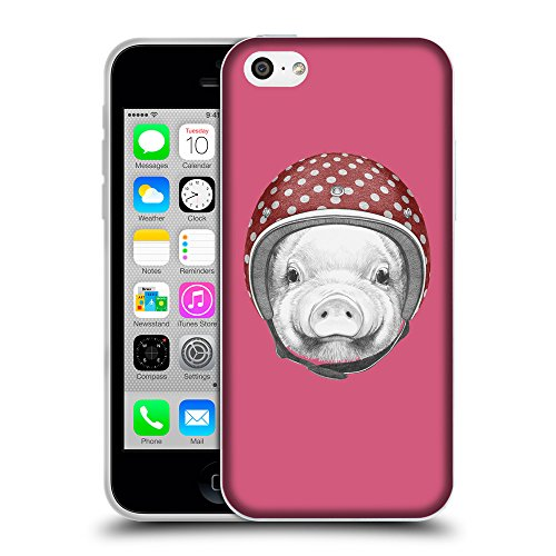GoGoMobile Coque de Protection TPU Silicone Case pour // Q05340614 Casque tirelire Rougir // Apple iPhone 5C