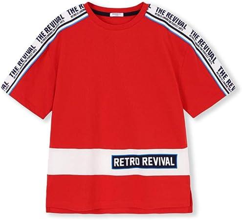 LF Pack De 1 Niño Camisetas,Cuello Redondo Acanalado, Abertura Lateral Camisa De Niños,Red-55in(140cm): Amazon.es: Hogar