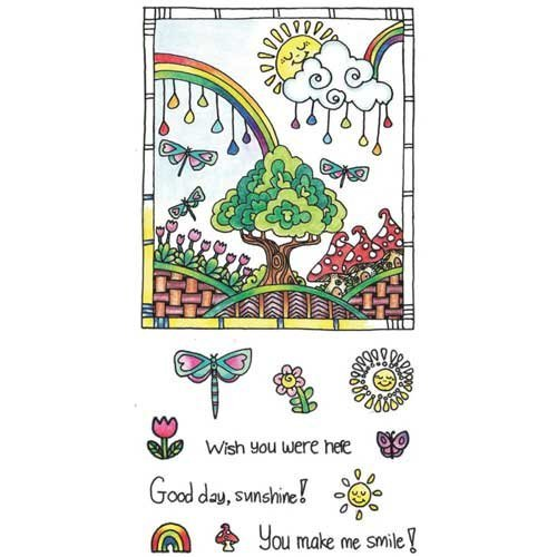 (Hampton Arts Color Me Clear Stamps ~ Sunshine)