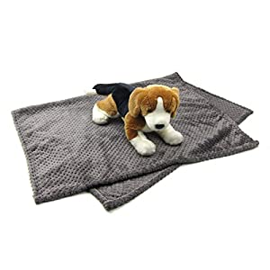 Alfie Pet – Mackenzie Fleece Blanket for Dogs and Cats – Color: Grey Click on image for further info.