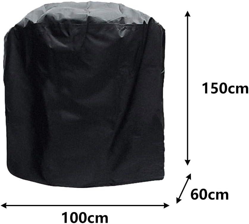 MMMA Housse pour Barbecue Rectangulaire,Oxford Protection BBQ Couverture de Grill Anti-UV/Anti-l'eau/Anti-l'Humidité,Convient la Plupart des Grills Noir 100*60*150cm