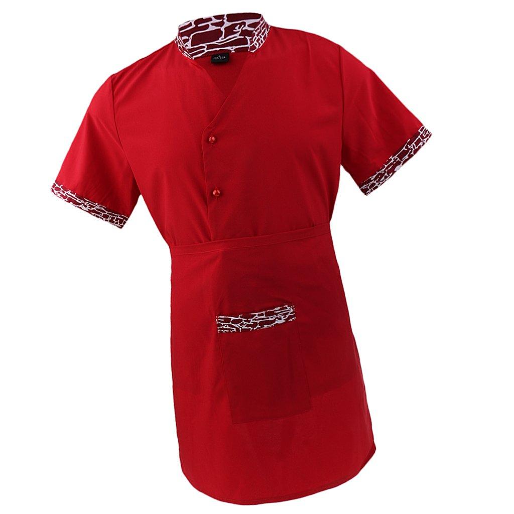 Top con delantal para Mujeres Baoblaze Traje de Chef Uniforme de Trabajo para Camareras
