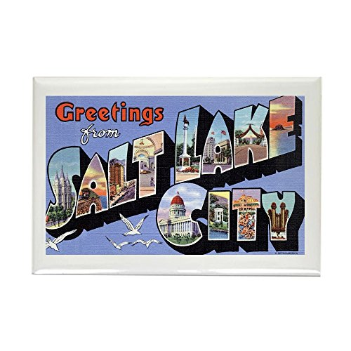 CafePress - Salt Lake City Utah UT - Rectangle Magnet, 2