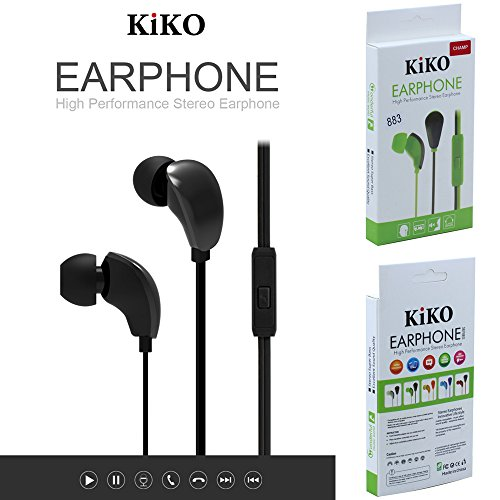 Wholesale Lot of Earphones, 38 Packs 3.5mm Earphone With Microphone Bass Stereo In-Ear Earpod Headphone Headset For iPhone iPad Android Phones Windows Phone MP3 MP4 PC and Tablets (Black) by KIKO Wireless