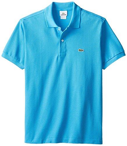 Lacoste Men's Short Sleeve Classic Pique L.12.12 Polo Shirt, Discontinued Colors,Aqua,Medium/Eur 4,