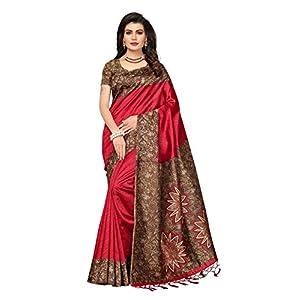 Women's Art Silk Printed Kalamkari Sarees