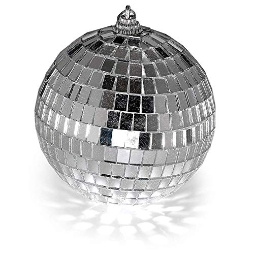 4'' Mirror Disco Lights - Silver Hanging Ball - Perfect for Home Decorations, Stage Props, Game Accessories, School Festivals, Party Favor and Supplies by Kidsco (Image #2)