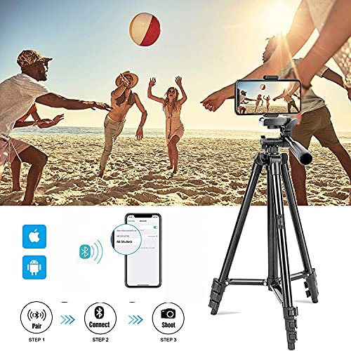 Phone Tripod, BONFOTO CD130 Aluminum Camera Tripod Portable Tabletop Travel Tripod Stand with 1/4\