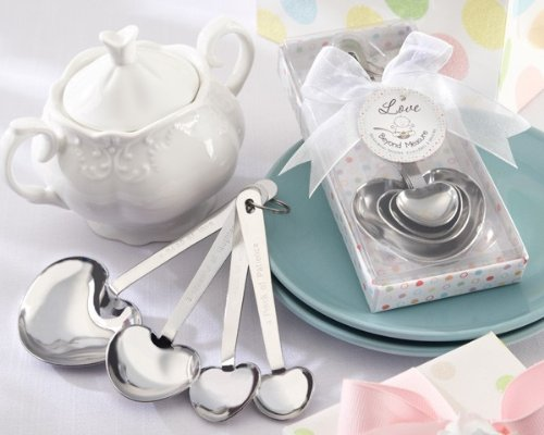 Love Beyond Measure Stainless-Steel Measuring Spoons Baby Shower Favor - Total 48 sets