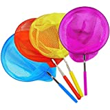 """Miraclekoo 4 Pack Kids Telescopic Butterfly Net Fishing Nets Insect Net Extendable 34"""" Inch"""