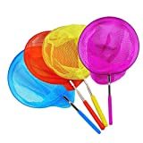 "Miraclekoo 4 Pack Kids Telescopic Butterfly Net Fishing Nets Insect Net Extendable 34"" Inch"