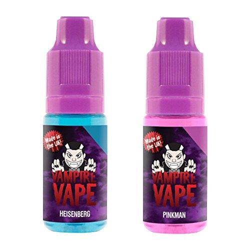 Vampire Vape Heisenberg & Pinkman – ohne Tabak & Nikotin – Nikotingehalt 0% – Probierset 2 x 10 ml