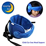 Child Car Seat Stroller Head Support Keep Comfortable Safe Sleep Positioner (Blue)