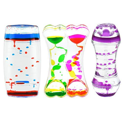 Playlearn Variety Pack Sensory Liquid Timer - Motion Bubbler - Fidget Toys