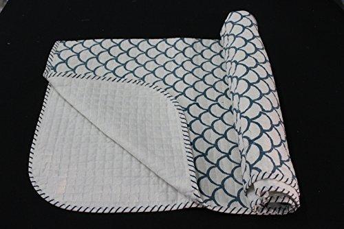 Worldoftextile Block Printed Soft Cotton Skin Friendly Baby Quilt Kids Bedding Quilt Cotton Baby Quilt Pure Soft Cotton Machine Quilt Baby Gift