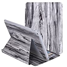 iPad Air 2 Case - AFILADO Wood Grain Ultra Slim Lightweight Stand Smart Cover with Card Slot Holder, Auto Sleep/Wake Feature for Apple iPad Air 2 (iPad 6) (Grey)
