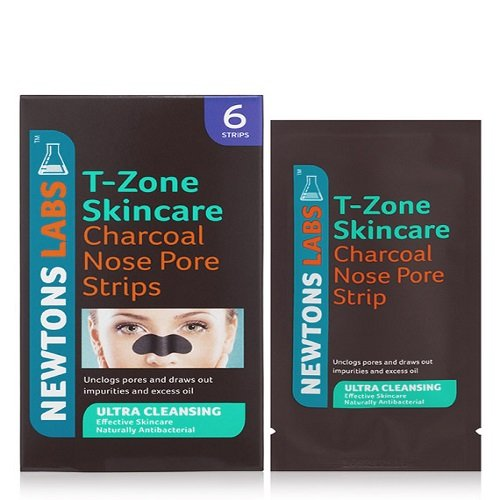 T-Zone Charcoal and Tea Tree Ultra Cleansing Nose Pore Strips - Pack of 6 by T-Zone 01064TZD