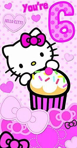 Gifts Shatchi 938 Carte D Anniversaire 6 Ans Motif Hello Kitty Multicolore Amazon Fr Jeux Et Jouets