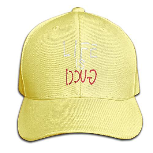 Fhsdiu.fjhiu Life is Gucci Visor Hat Vintage Sandwich Cap Caps Yellow