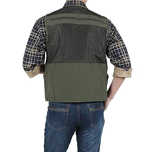Lanceyy Lanceyy Vest Vest Vest Stile Outdoor Uomo Tasche Con Quick Da Vest Giacca Dry Molte Khaki Traspirante Multifunzione Sport Semplice FvqrF
