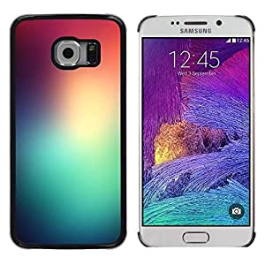 """Pulsar Snap-on Series Teléfono Carcasa Funda Case Caso para Samsung Galaxy S6 EDGE / SM-G925(NOT FOR S6) , Trullo rojo vidrios de colores de las luces del amanecer Naturaleza"""""""