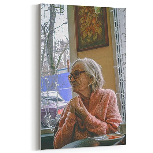 Westlake Art Canvas Print Wall Art - Senior Citizen on Canvas Stretched Gallery Wrap - Modern Picture Photography Artwork - Ready to Hang - (Senior Citizen Costumes)